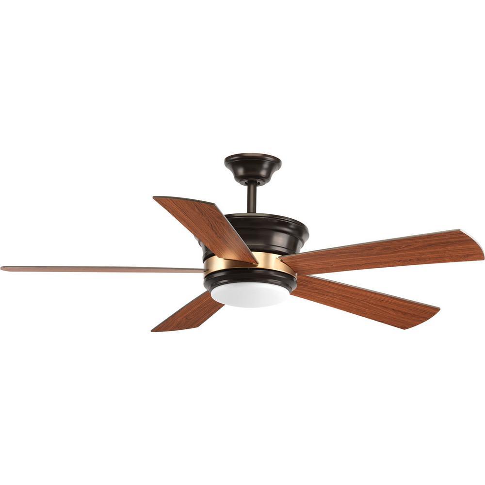 Harranvale Collection 54 in. LED Antique Bronze Ceiling Fan