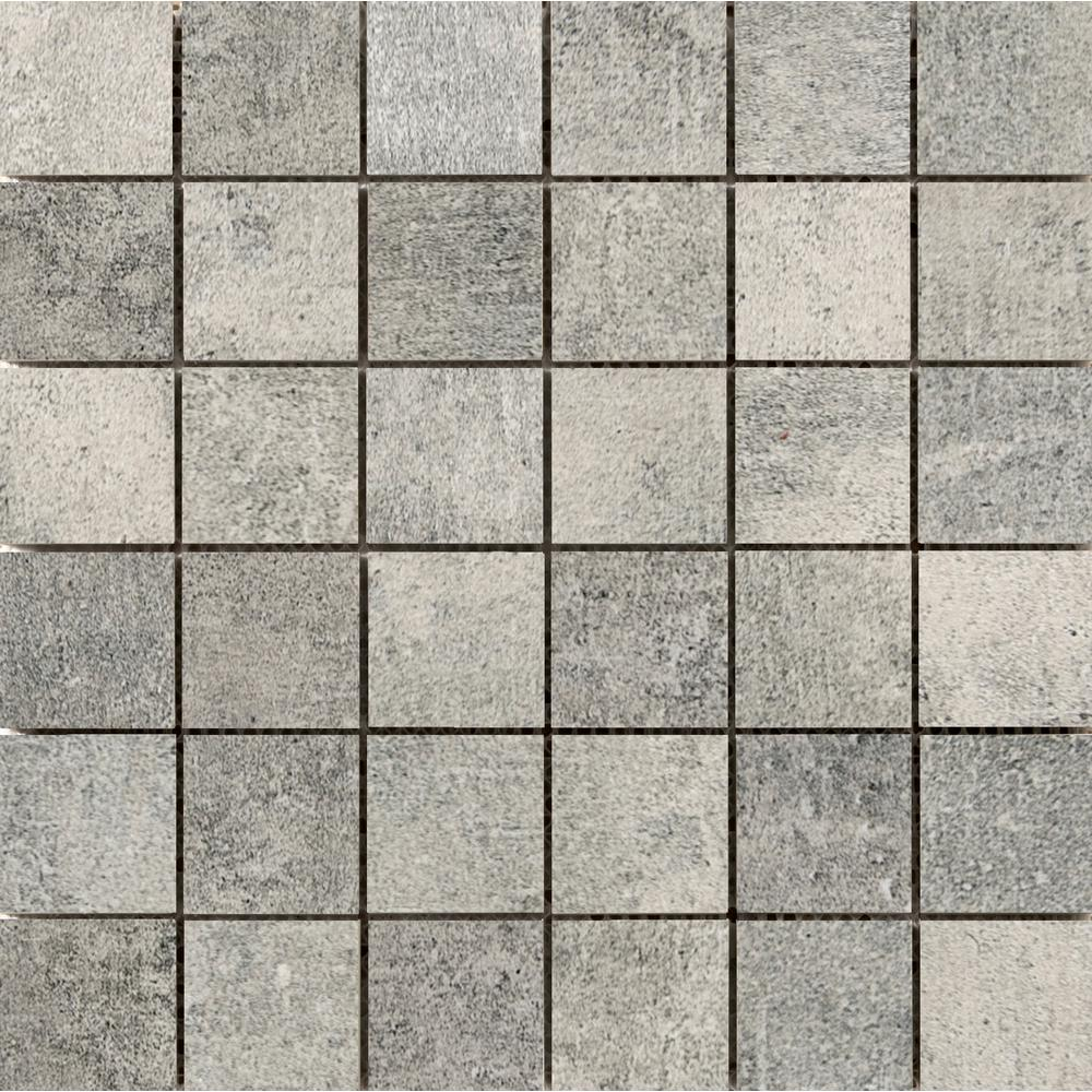 Emser Chiado Jerome 12.99 in. x 12.99 in. x 9mm Porcelain Mesh-Mounted Mosaic Tile