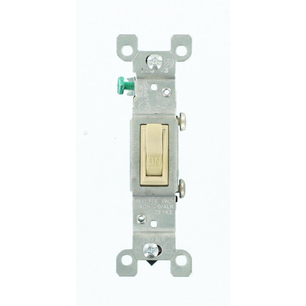 Leviton 15 Amp CO/ALR AC Quiet Toggle Switch, Ivory
