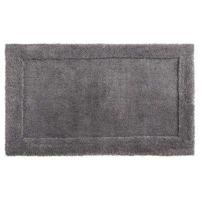 Dynasty 30 in. x 50 in. Micro Denier Polyester Bath Mat in Pewter