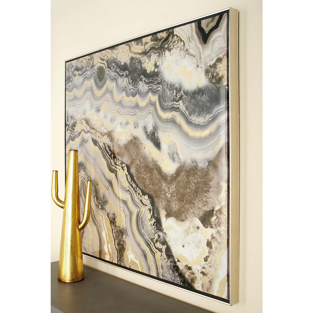 Marble Inspired Framed Canvas Wall Art
