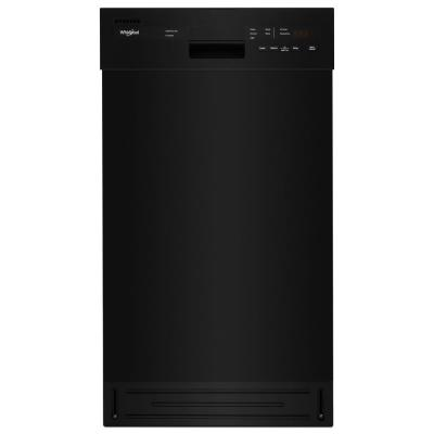 18 in. Front Control Dishwasher in Black with Stainless Steel Tub, 50 dBA