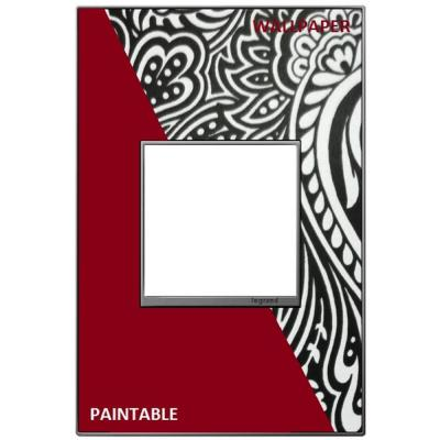 adorne 1 Gang Decorator/Rocker Wall Plate, Custom with Magnesium Trim (1-Pack)