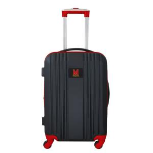 NCAA Maryland 21 in. Red Hardcase 2-Tone Luggage Carry-On Spinner Suitcase