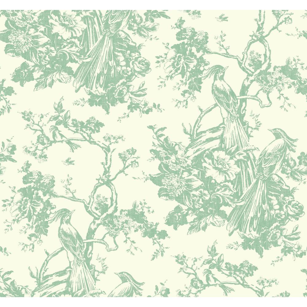 Ashford Toiles Exotic Plumes Wallpaper