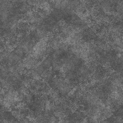 8 in. x 10 in. Classic Royal Taupe Geometric Stone Wallpaper Sample