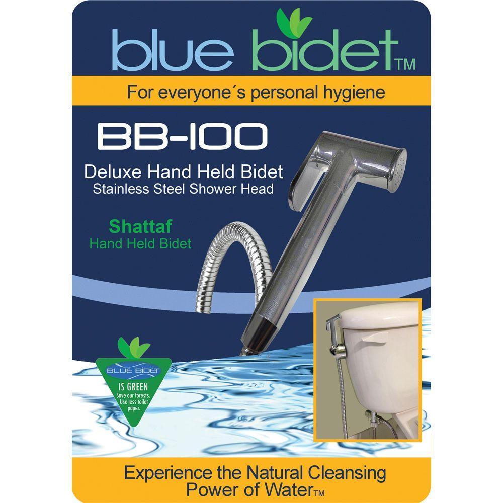 Blue Bidet 58 in. Hose Deluxe Hand Held Bidet in Silver BB 100