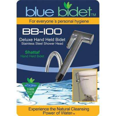 58 in. Hose Deluxe Hand Held Bidet in Silver