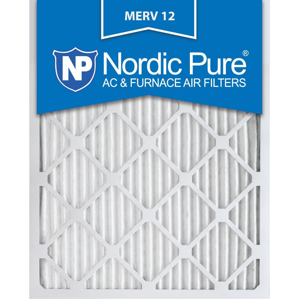 12 in. x 25 in. x 1 in. Allergen Pleated MERV 12 - FPR 9 Air Filters (3-Pack)