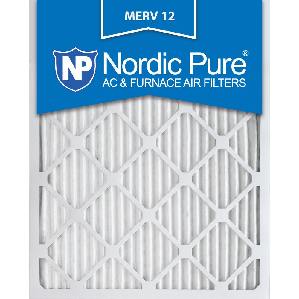 Nordic Pure 16x20x1 MERV 10 Pleated AC Furnace Air Filter Box of 6