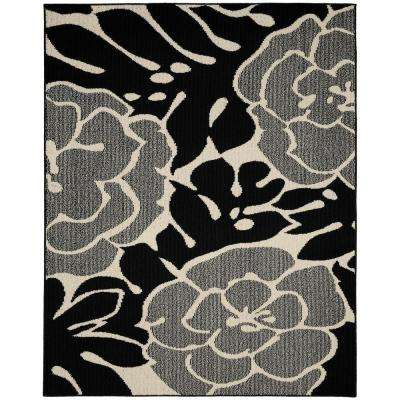 Valencia Black/Ivory 8 ft. x 10 ft. Area Rug