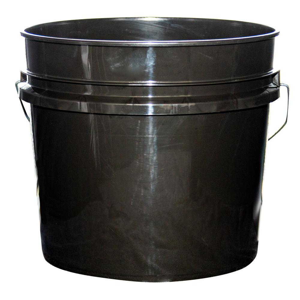 Argee 3 5 Gal Black Pail 10 Pack Rg503blk 10 The Home Depot