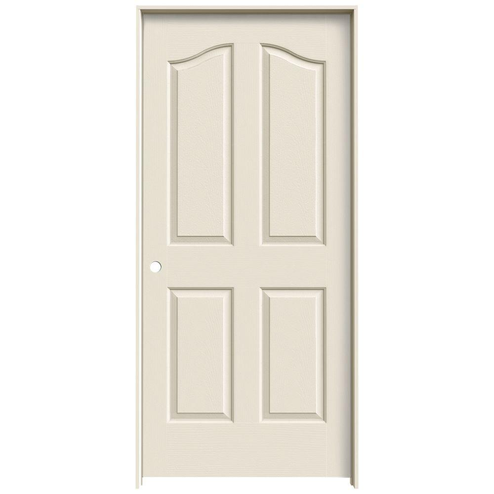 JELD-WEN 36 in. x 80 in. Provincial Primed Right-Hand Smooth Molded Composite MDF Single Prehung Interior Door