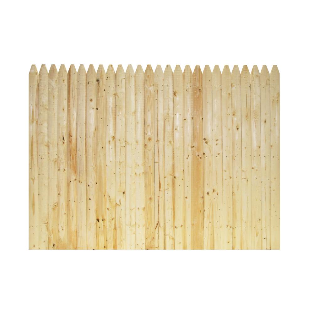 6 ft. x 8 ft. Spruce 4 in. Moulded Stockade Fence Panel