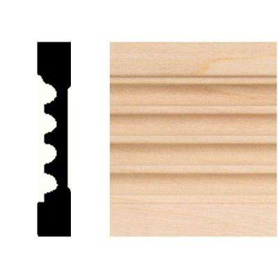 3/8 in. x 2-1/4 in. x 7 ft. Basswood Fluted Casing
