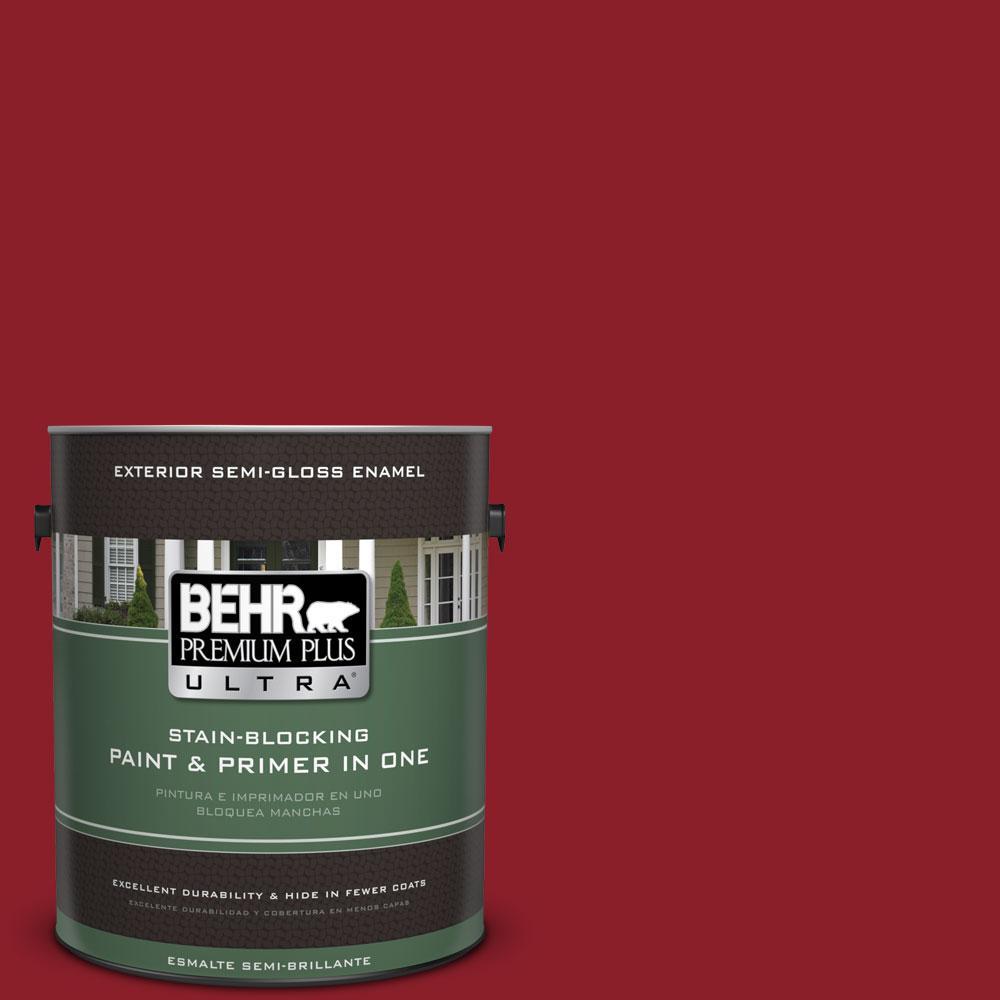 1-gal. #ECC-32-3 Cherry Tree Semi-Gloss Enamel Exterior Paint