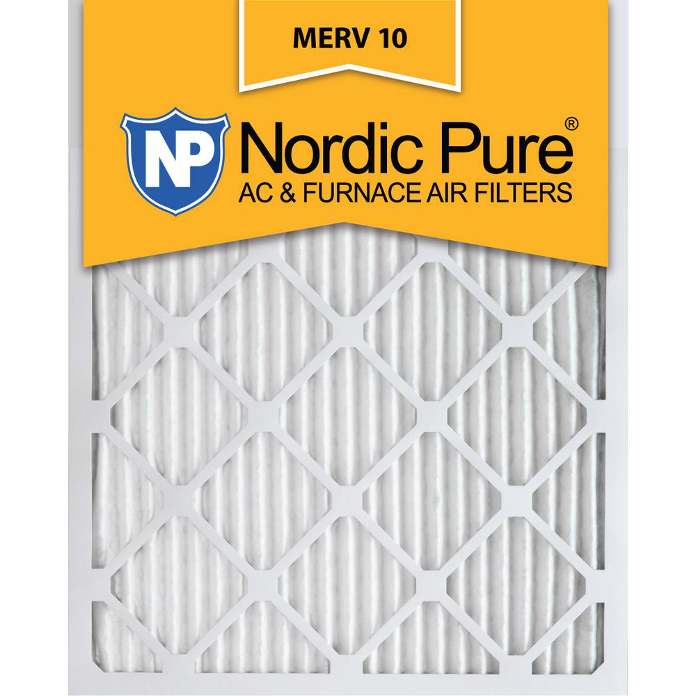 Nordic Pure 19/_1//2x21x1 Exact MERV 10 Pleated AC Furnace Air Filters 1 Pack