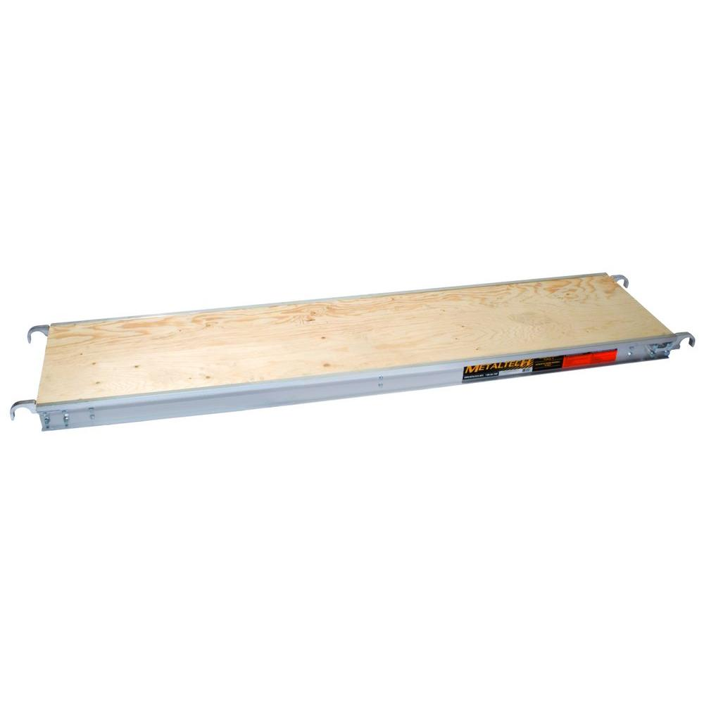 MetalTech 7 ft. x 19 in. Aluminum Scaffold Platform with Plywood Deck