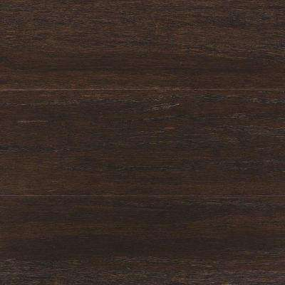 Take Home Sample - Wire Brush Strand Woven Prescott Click Bamboo Flooring - 5 in. x 7 in.