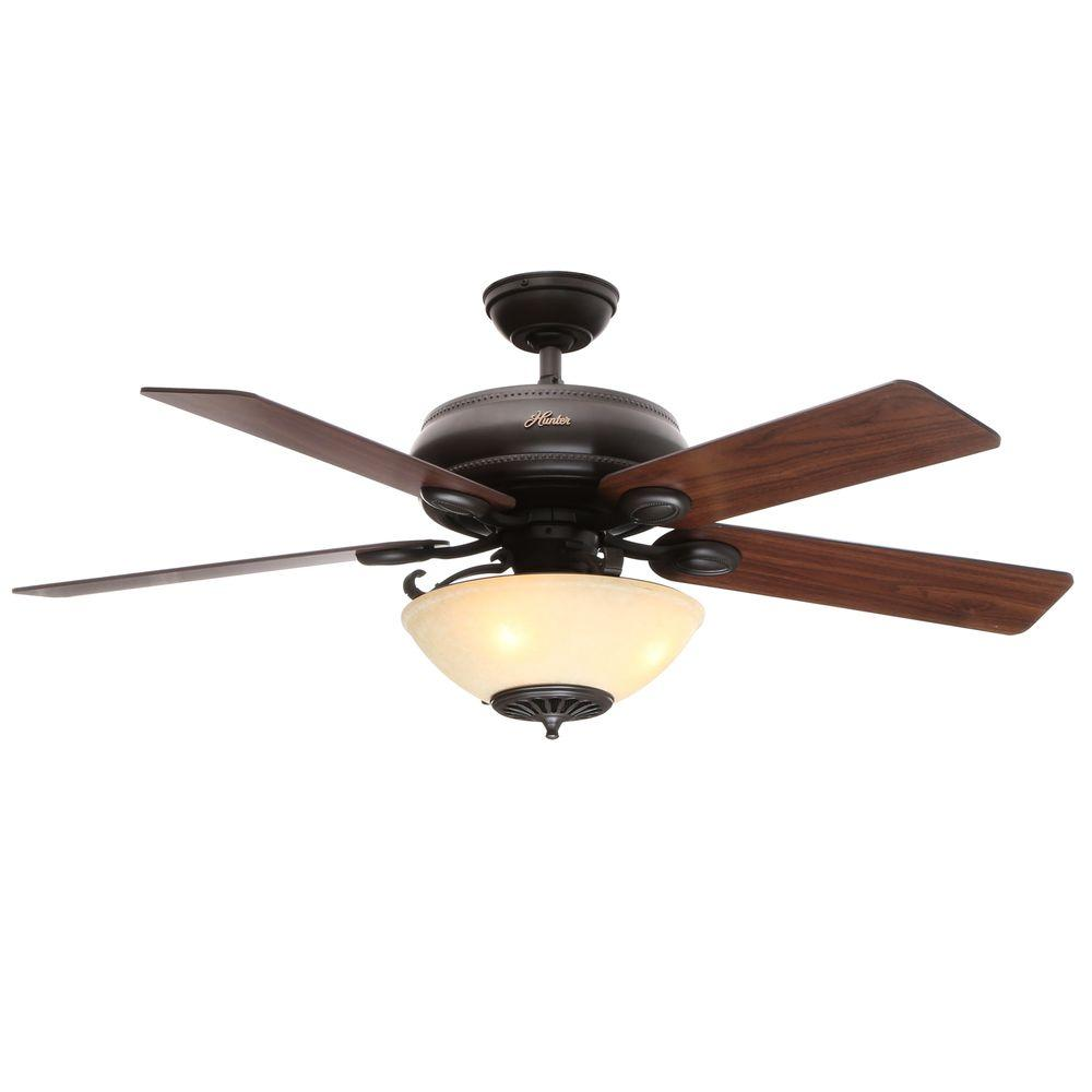Indoor New Bronze Ceiling Fan With Light
