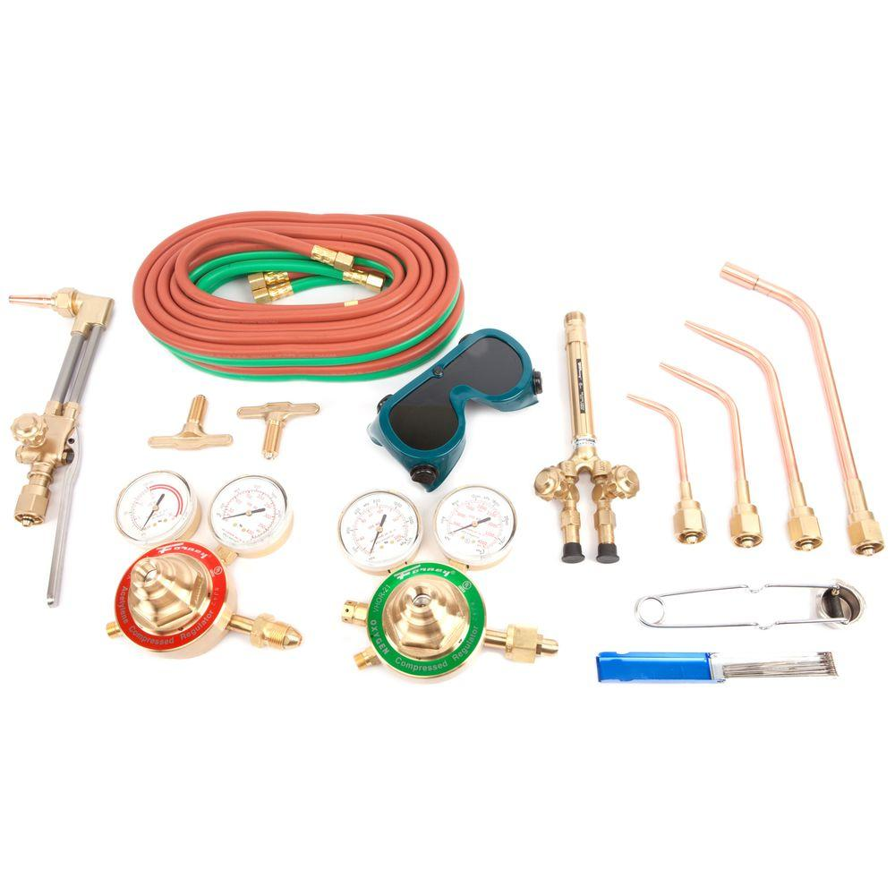 Forney Heavy Duty Oxygen Acetylene Deluxe Victor Type Torch Kit