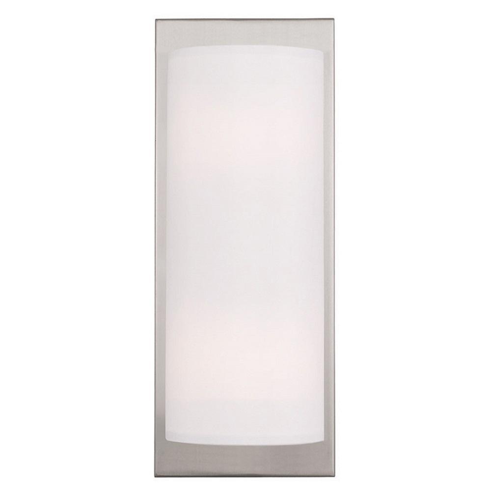 Livex Lighting Meridian 2-Light Brushed Nickel Wall Sconce
