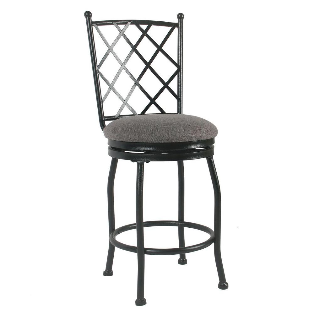Homepop Tristan Metal 24 In Black Bar Stool K4004 24 F2111 The