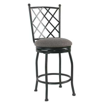 Tristan Metal 24 in. Black Bar Stool