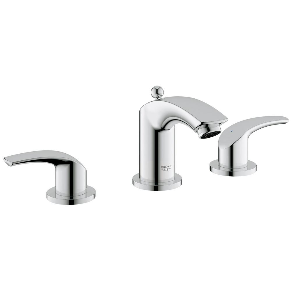 Eurosmart 8 in. Widespread 2-Handle 1.2 GPM Bathroom Faucet in Brushed