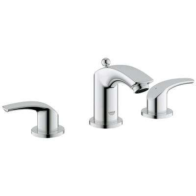 Eurosmart 8 in. Widespread 2-Handle 1.2 GPM Bathroom Faucet in Brushed Nickel InfinityFinish