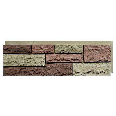 Random Rock Tri Sedona Red 15.5 in. x 48 in. Faux Stone Siding Panel (4-Pack)