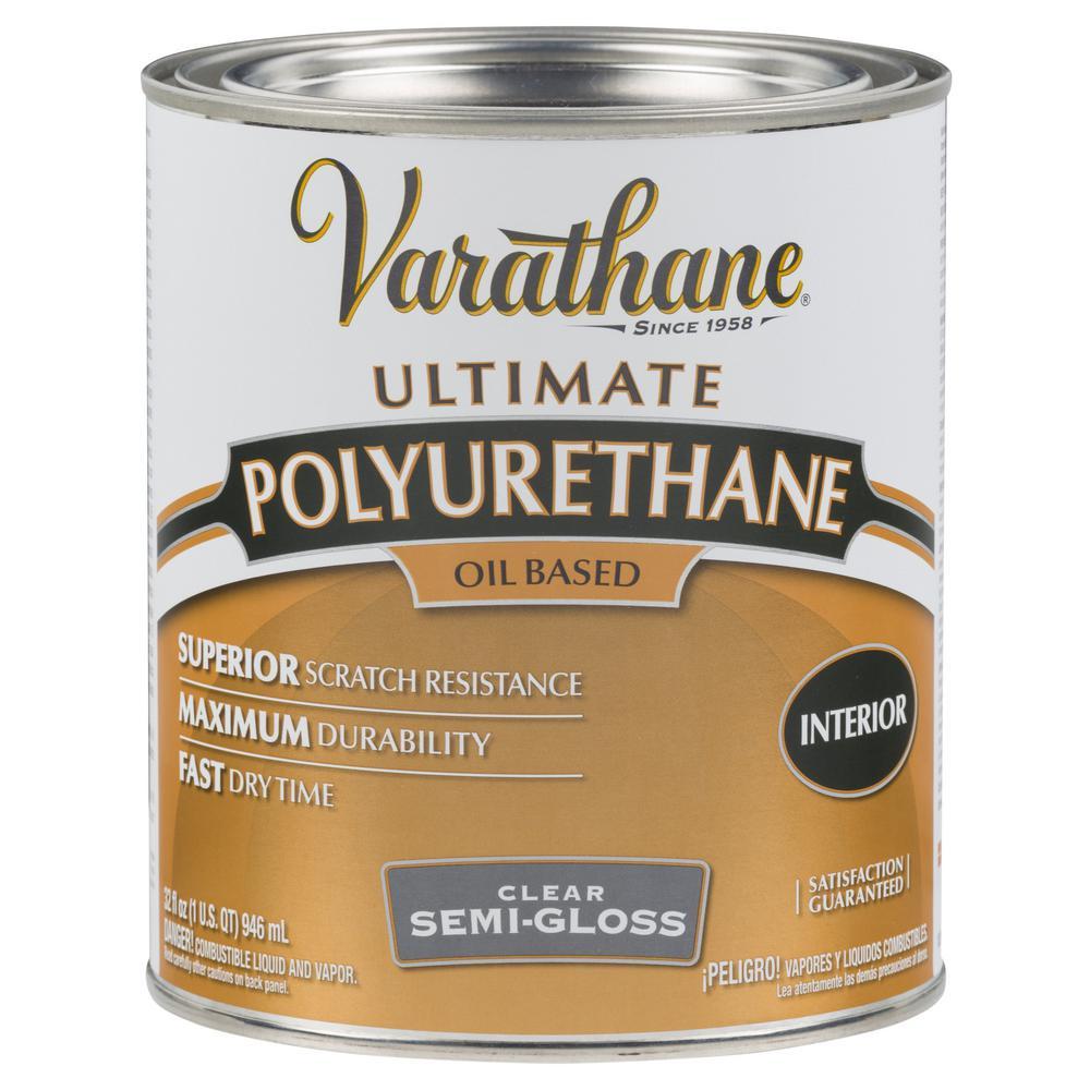 Varathane 1 qt. Clear Semi-Gloss Oil-Based Interior Polyurethane