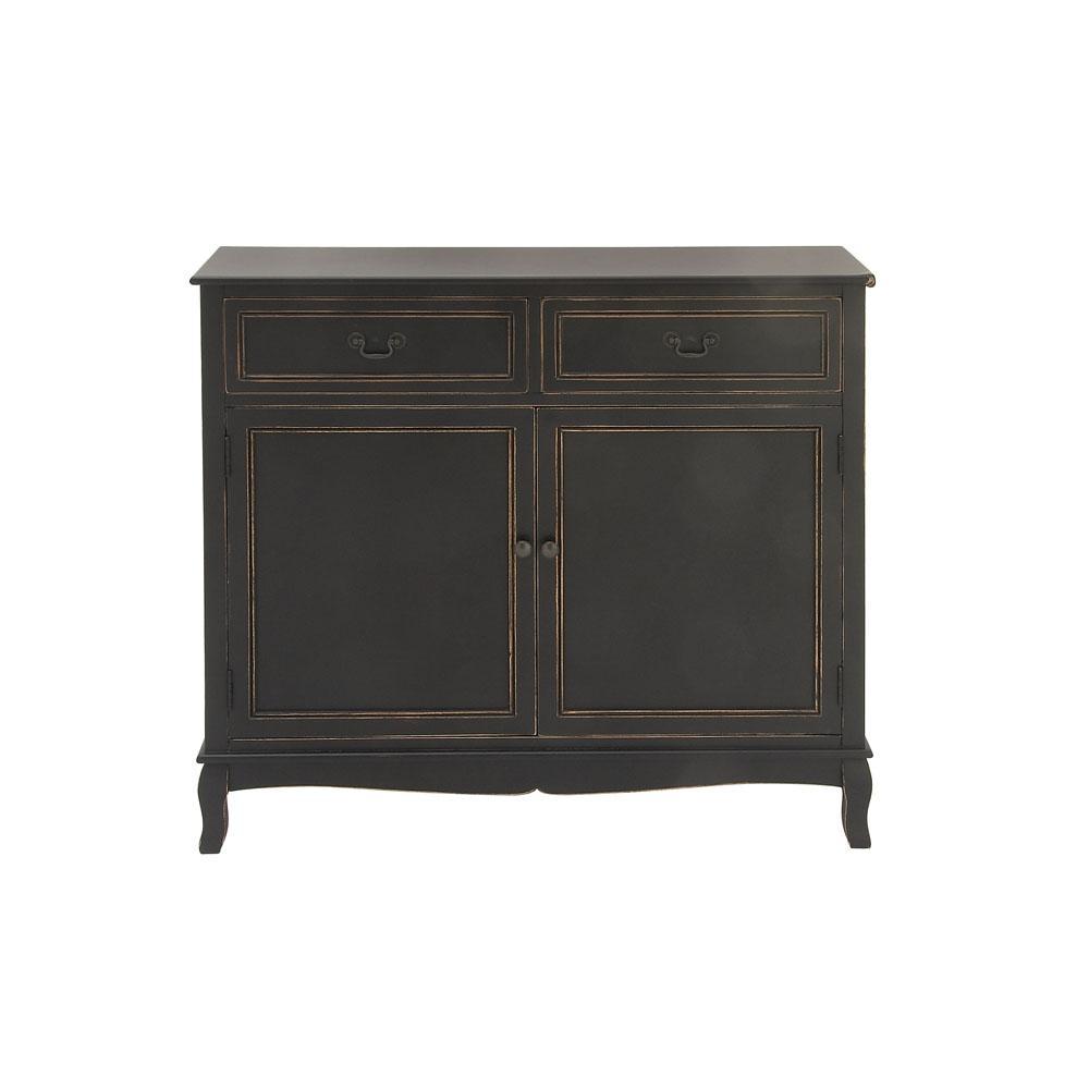 X 40 In Black Wooden Cabinet