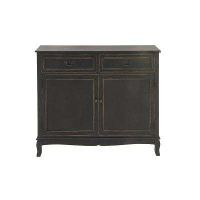 New Traditional 36 In X 40 Black Wooden Cabinet
