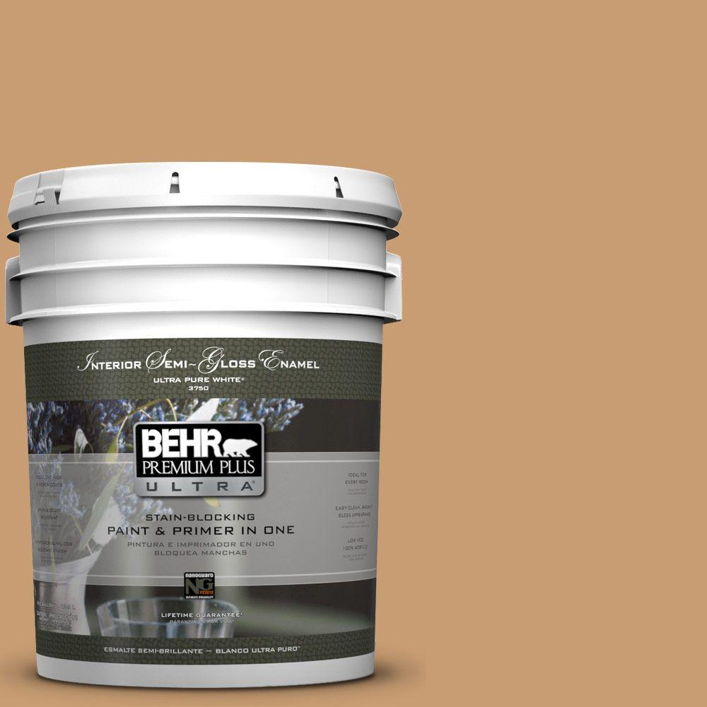 BEHR Premium Plus Ultra 5-gal. #S270-5 Gingersnap Semi-Gloss Enamel Interior Paint