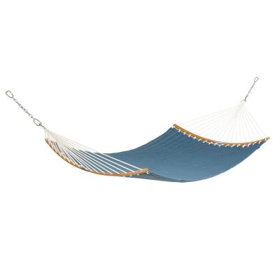 Ravenna ConnectCurve 81 In. L x 55 In. W Quilted Double Hammock Bed in Empire Blue