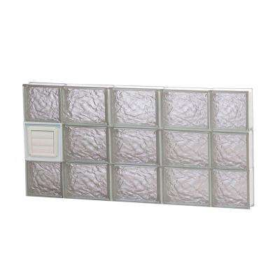 34.75 in. x 17.25 in. x 3.125 in. Frameless Ice Pattern Glass Block Window with Dryer Vent