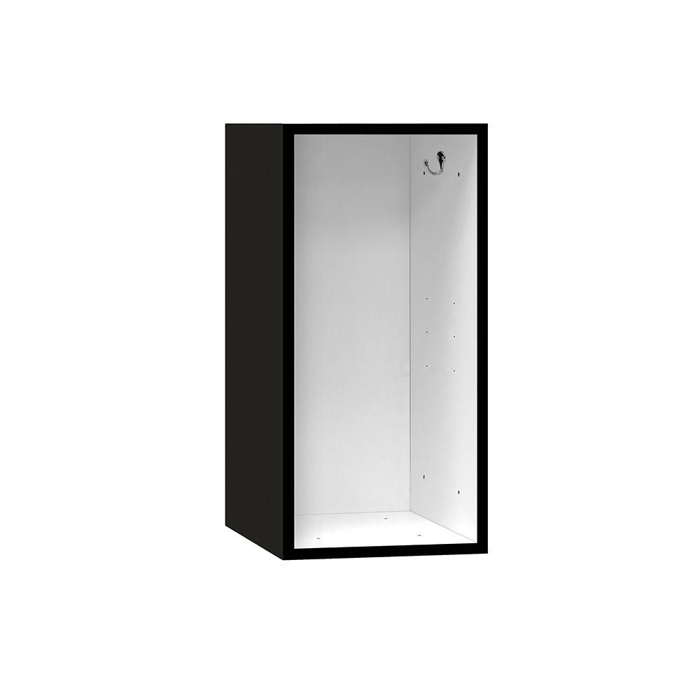 Salsbury Industries 31000 Series 12 in. W x 24 in. H x 12 in. D Wood Cubby in Black