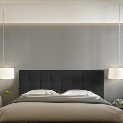 Roanne Black Queen Button Tufted Headboard