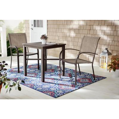 Mix and Match Brown Steel Outdoor Bistro Table