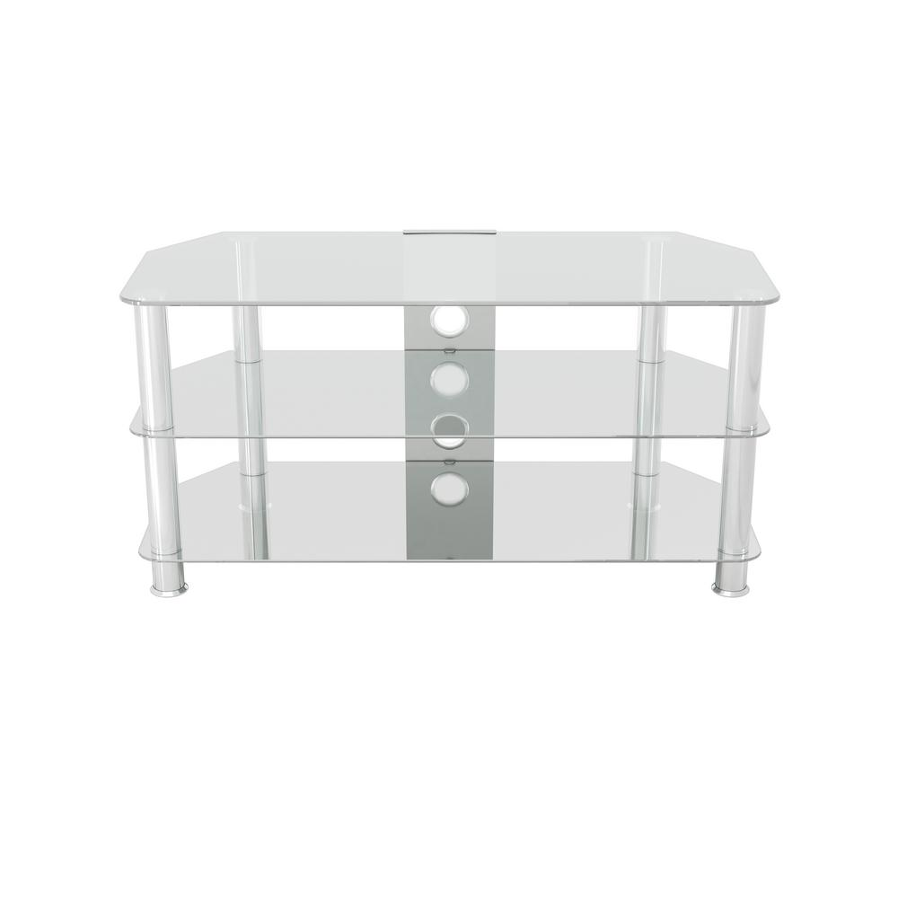 Glass TV Stand with Cable Management for TVs up to 50