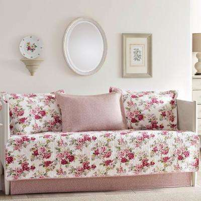 Lidia 5-Piece Red Daybed Set