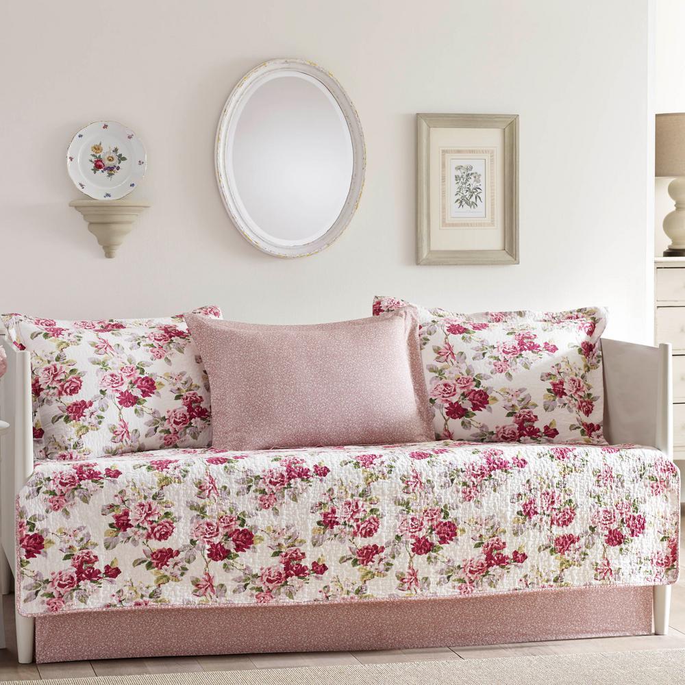 Lidia 5-Piece Pastel Beige Daybed Bedding Set