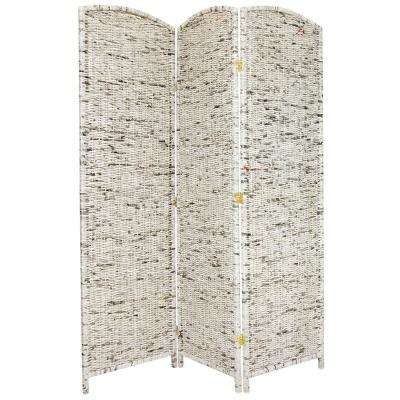 6 ft. Gray 3-Panel Recycled Newspaper Room Divider