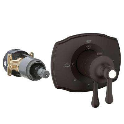 Authentic 2-Handle GrohFlex Universal Rough-In Box Dual Function Thermostatic Kit in Oil Rubbed Bronze