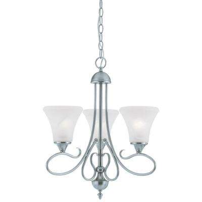 Elipse 3-Light Brushed Nickel Chandelier