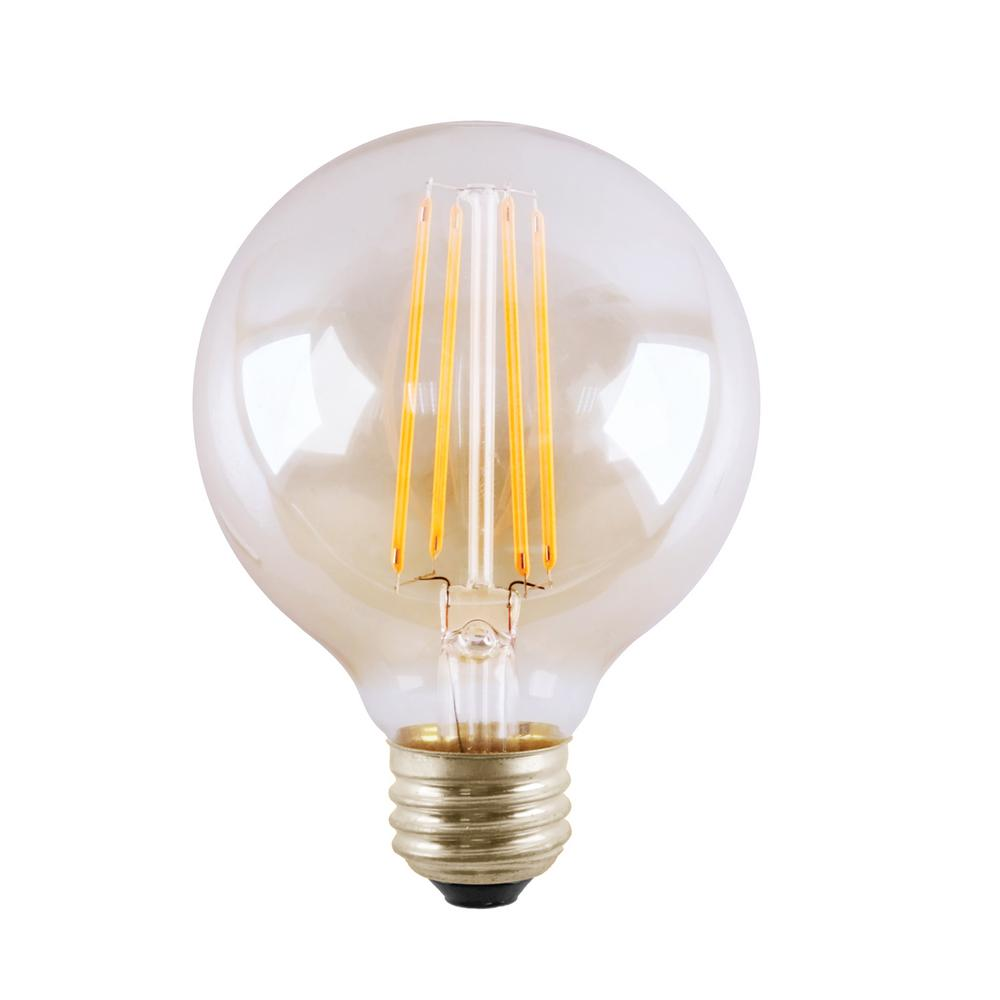 Halco Lighting Technologies 25 Watt Equivalent 3 G16 5 Dimmable Led Clear Filament Antique Vintage Light Bulb Warm White