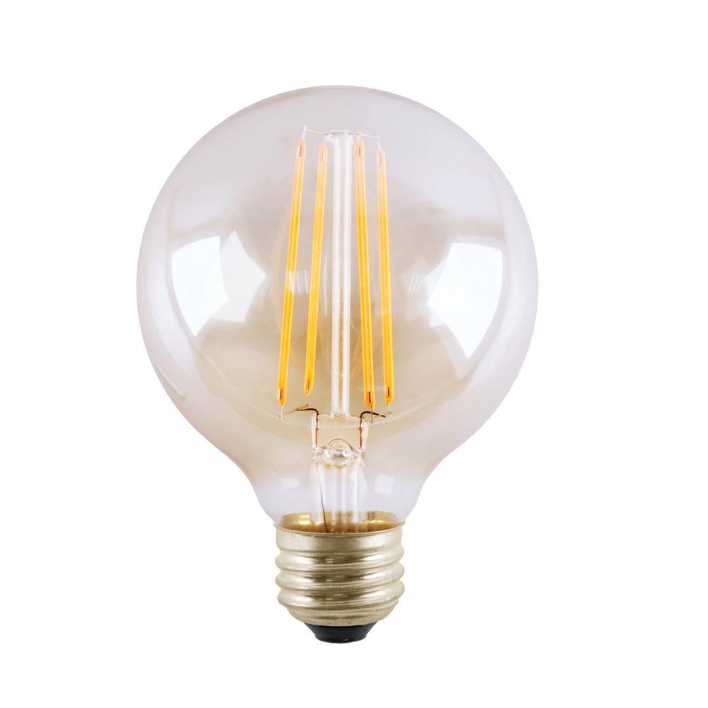 Halco Lighting Technologies 60 Watt Equivalent 5 G25 Dimmable Led Clear Filament Antique Vintage Light Bulb 3000k 85049