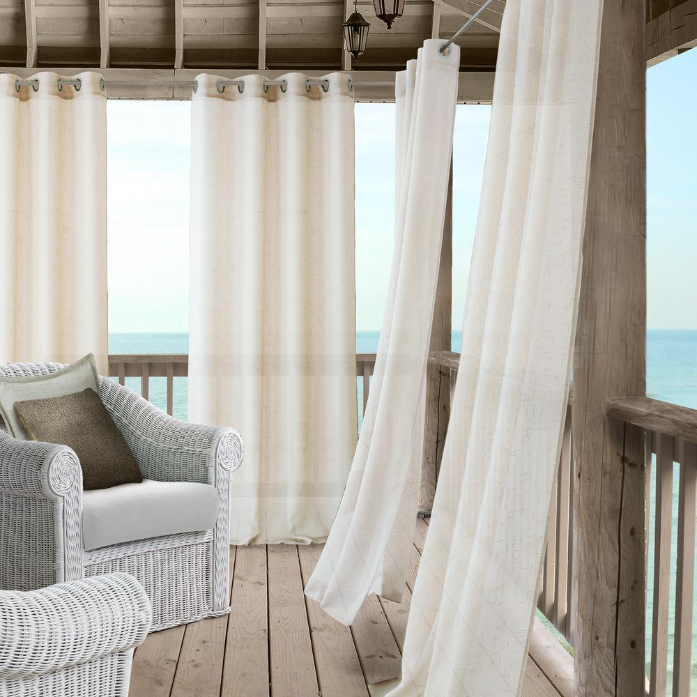Elrene Bali Sheer Indoor Outdoor Window Curtain With