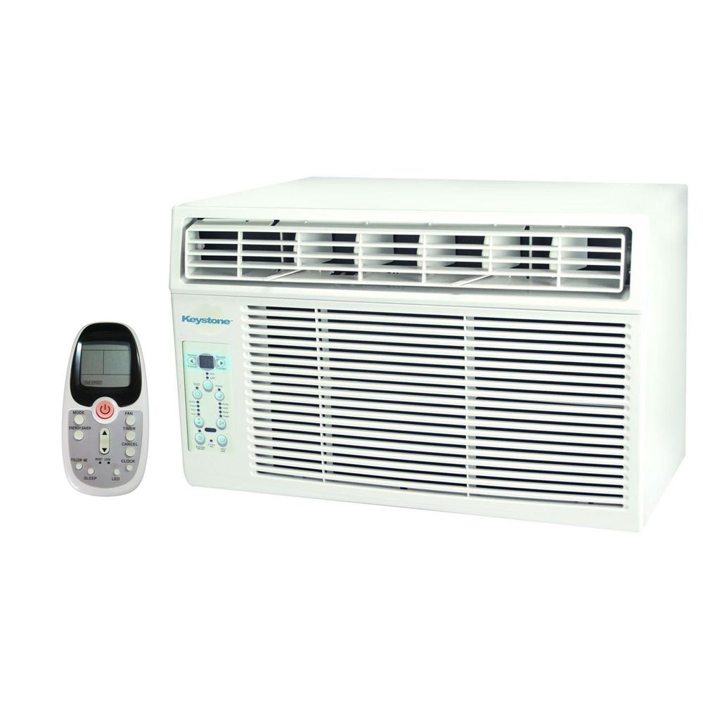 Keystone 6,000 BTU 115-Volt Window-Mounted Air Conditioner with LCD Remote Control